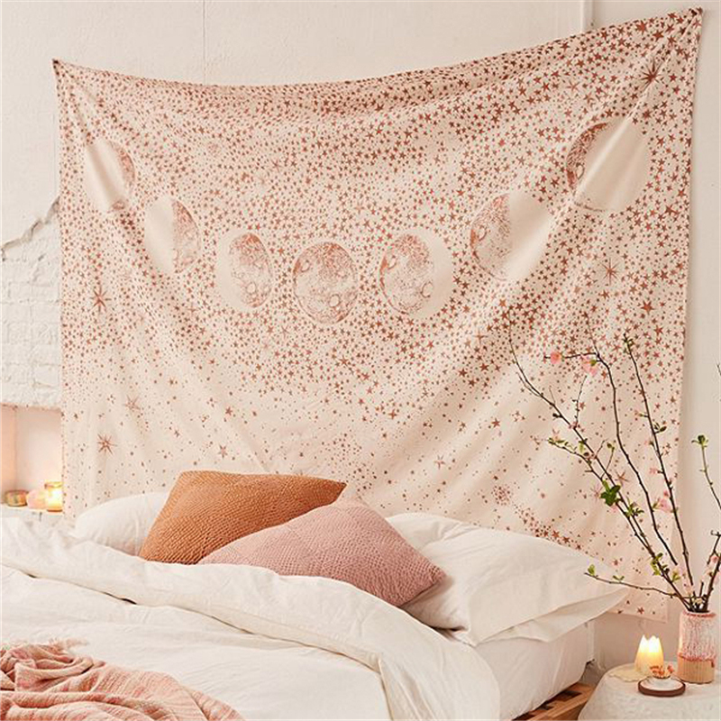 The Moon Tapestry Wall Hanging Galaxy Night Sky Psychedelic Wall Tapestry Mandala Wall Cloth Tapestries Wall Carpet Beach Towel