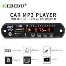 Kebidu 5 в 12 В Bluetooth MP3 декодер доска MP3 плеер Автомобильный комплект FM радио TF USB 3,5 мм WMA AUX аудио приемник новейший