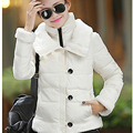 New Fashion Women Winter Cotton Jacket Thickening Fur collar Warm Coats Elegant Slim Large size Ladies Short Coat