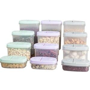Уплотнение страхование Танк хранения пластиковый контейнер для фруктов и овощей зерна Еда Коробка для хранения кухня сортировки Еда Короб...