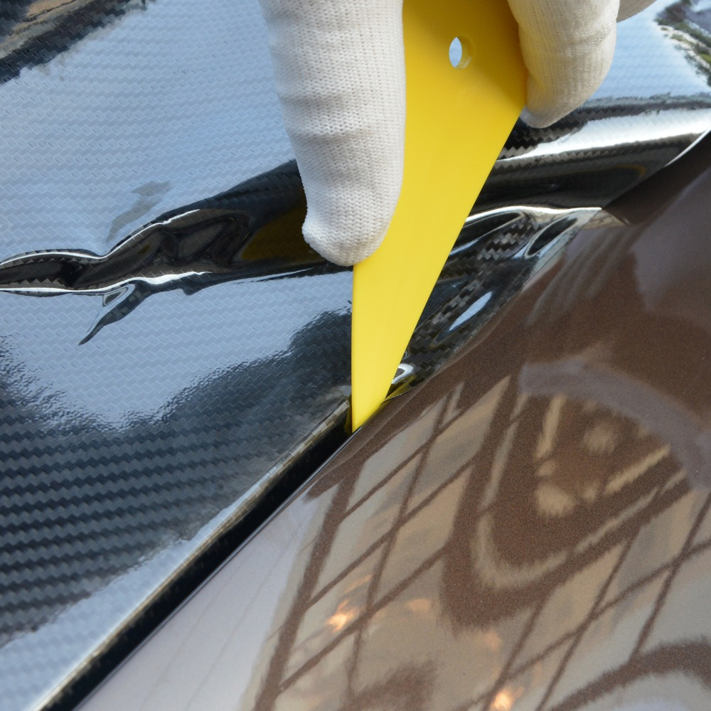 Image 4 - FOSHIO Auto Car Carbon Fiber Vinyl Wrap Squeegee Scraper Set Car Sticker Foil Film Cutter Knife Window Tint Car Wrapping Tools-in Scraper from Automobiles & Motorcycles