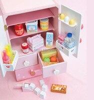 Новая деревянная игрушка клубника белый двухдверный холодильник кухня игрушка детская игрушка