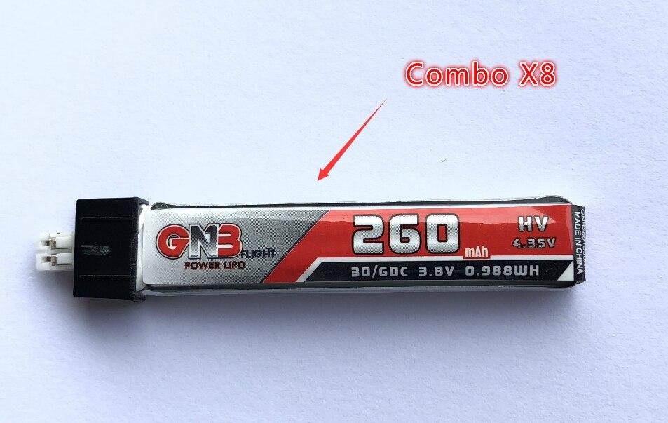 FSD 260 mAh 30C/60C 1 S Lipo HV Pil (8 PCS)FSD 260 mAh 30C/60C 1 S Lipo HV Pil (8 PCS)