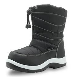 Mudipanda мальчиков сапоги обувь для девочек плюшевые сапоги до середины икры круглый носок плоский моды bota зимние детские сапоги для детей