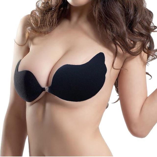 1Pc Sexy Women Push Up Bra Invisible Self-Adhesive Bra Bust Front Cloure Strapless Bra Underwear Brassiere Adhesives Bralette
