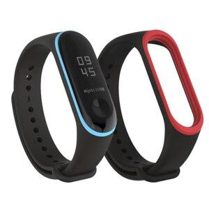 Image 4 - مزدوج ملون mi 3 حزام pulsera قابل للتعديل سيليكون المعصم حزام استبدال ل شاومي mi 3 الذكية أساور smartband