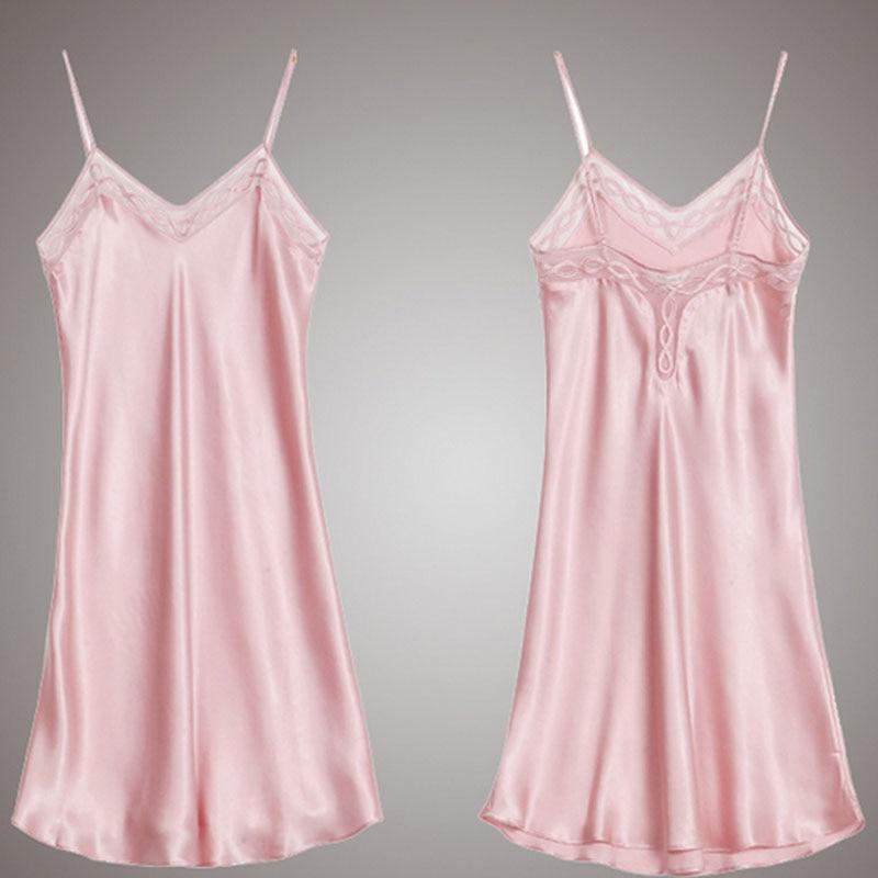 Zijde Satijn Nightgowns 100% Mullberry Zijden Vrouwen Zijden Nachtkleding Sexy Lingerie Jurk (Hand wassen alleen) - 4