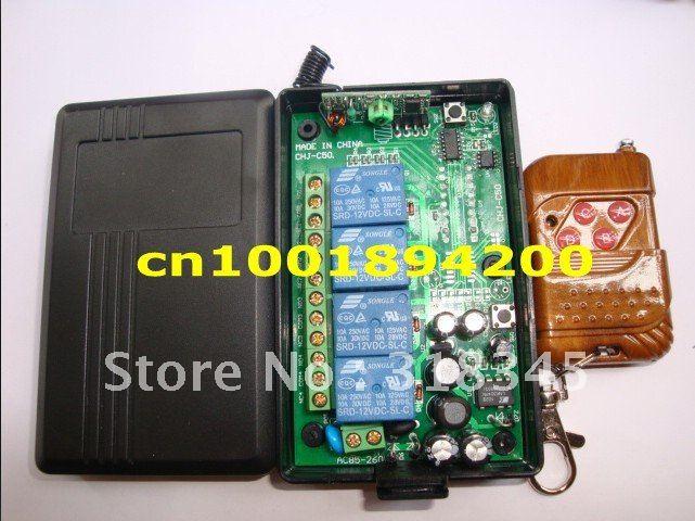 85V 260V 4CH Way wireless lamp power switch RF wireless remote control system push button transmitter