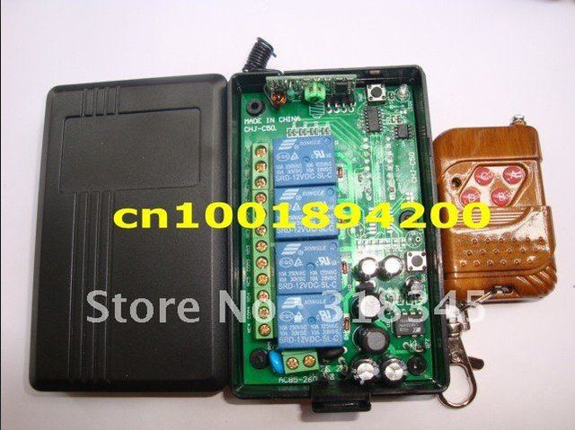 85 V 260 V 4CH Manier draadloze lamp/schakelaar RF draadloze afstandsbediening drukknop zender & ontvanger M4/L4/T4 passen