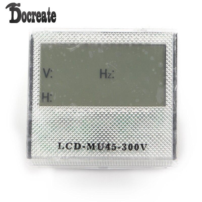 AC 80-300 V 3in1 Tiempo LCD Combo Medidor de Frecuencia De Voltaje Para El Generador