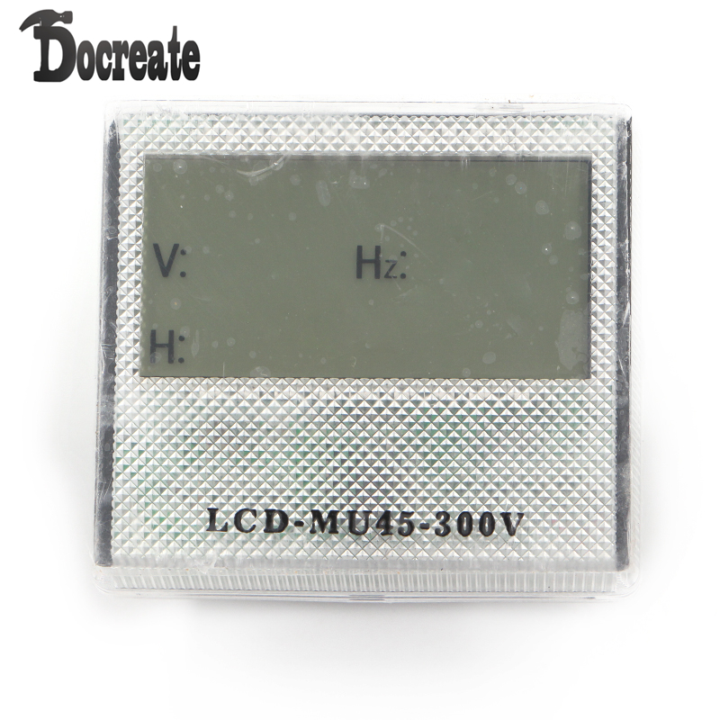 AC 80-300V 3in1 LCD Time Voltage Frequency Combo Meter For Generator