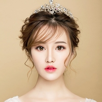 New Fashion High Exquisite Women Wedding Jewelry Hair Accessory Grade A Crystal Rhinestone Opal Golden Crown