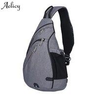 Aelicy جديد أزياء الرجال قماش حقائب الكتف الصدر حقيبة عارضة الصدر حزمة صغيرة crossbody جودة عالية الكتف حقيبة للجنسين 1016