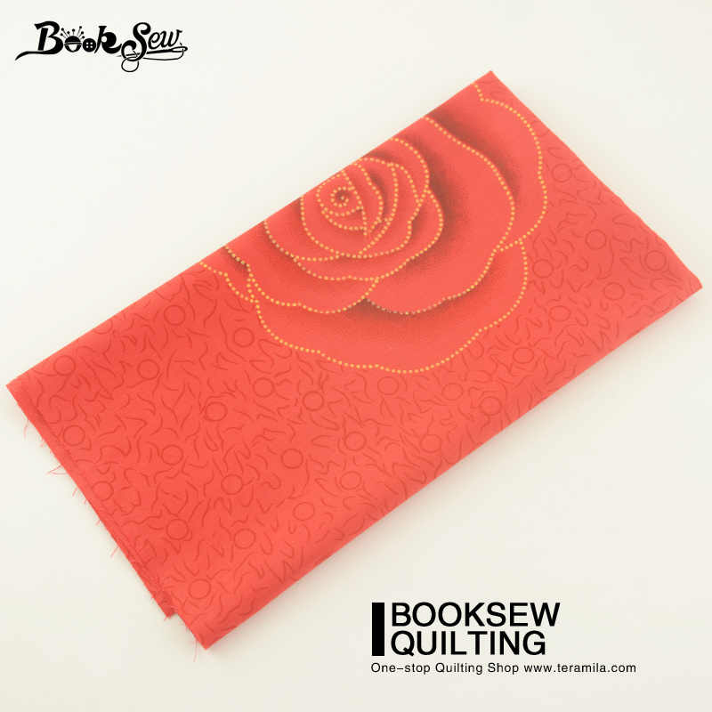 Booksew Home Textile Rose Red New Arrival Cotton Fabric Sewing Bedding Set Dolls Patchwork Cushion Quilting Clothing Dolls