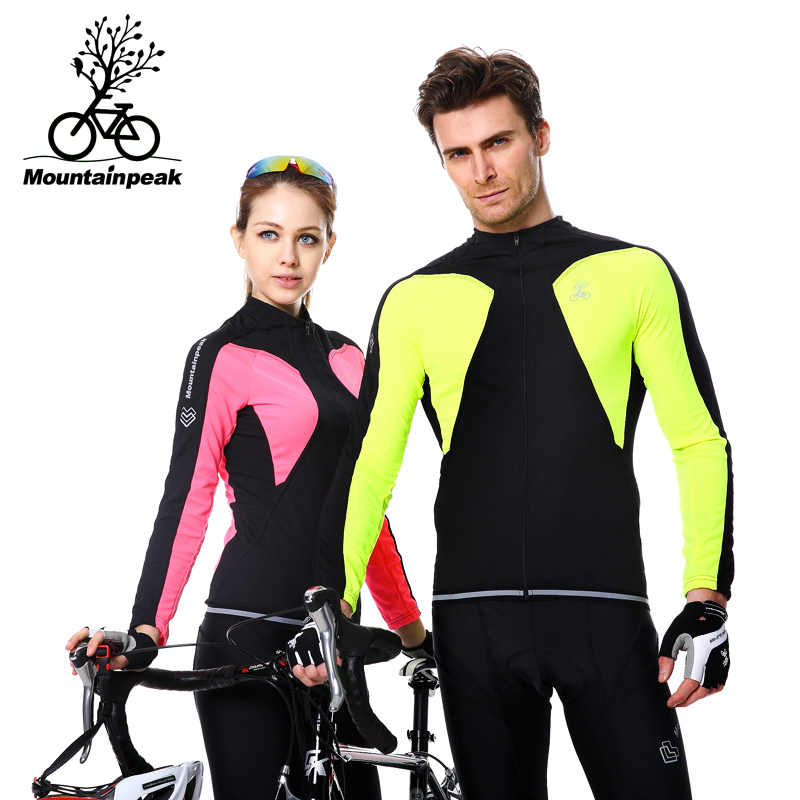 Spring&Summer Men and Woman Spell Color Breathable 3D Gel Padded MTB Road Bike Colorful Jerseys Quick Dry Cycling Clothing Sets
