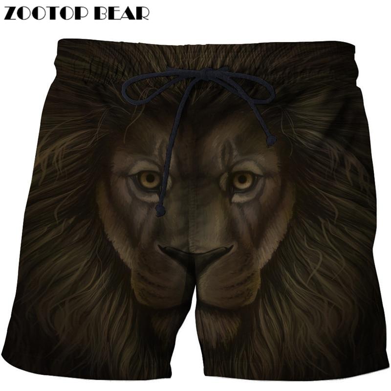 Lights & Lighting Funny Lion Beach Shorts Men Board Shorts 3d Shorts Plage Summer Swimwear Quick Dry Pants Fashion Print Drop Ship Zootop Bear