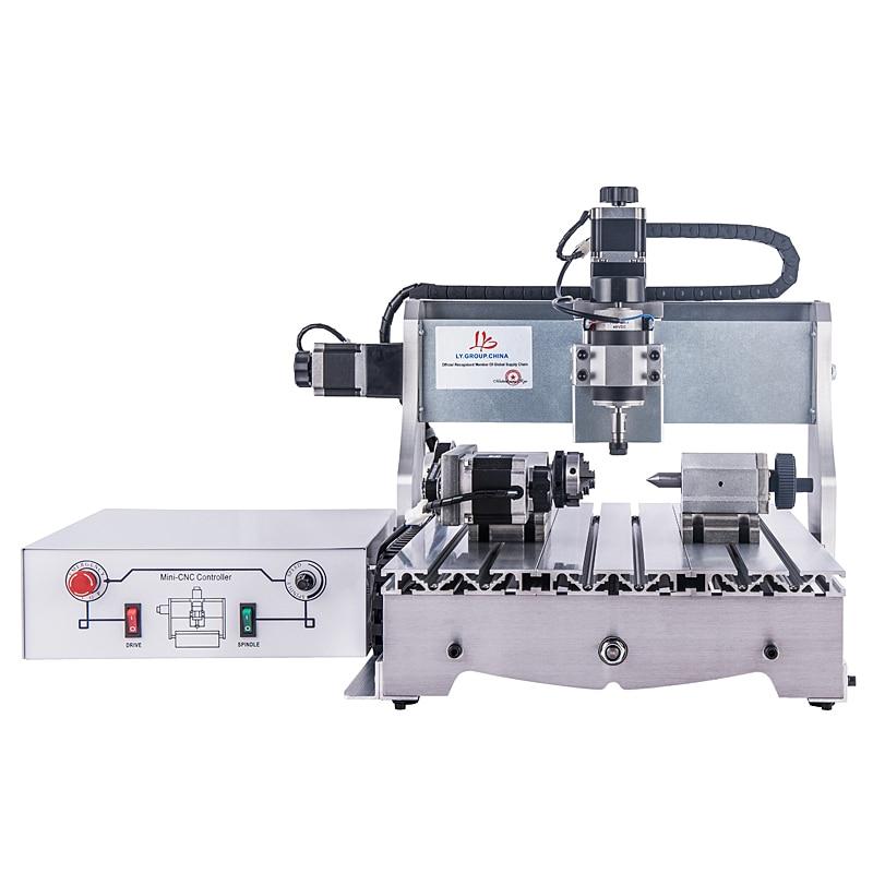 YOOCNC 4 axis 300W cnc lathe wood router 3040 engraving machine Числовое программное управление