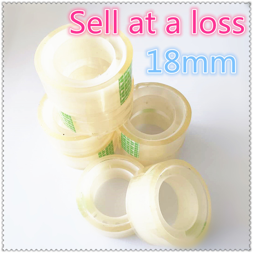 18mm Small Office S2 Transparent Tape Students Adhesive Tape Packaging Supplies Drop Shipping Free shipping Russia цена и фото