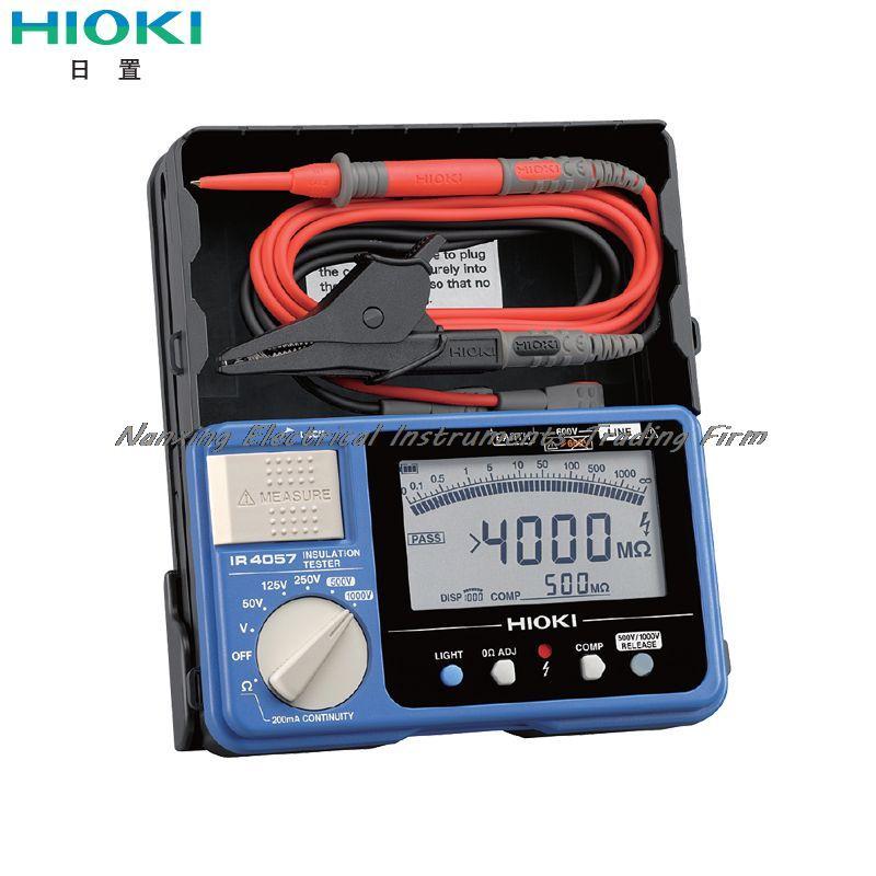 Arrivée rapide HIOKI IR4057-20 5-Range 50 V/100MOhm-1000V/4000 MOhm testeur de résistance d'isolation numérique