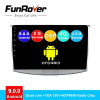 FUNROVER android 9.0 2 din car radio gps multimedia player For Passat B6 B7 CC Magotan 2011 2015 dvd navigation stereo DSP 2.5 D