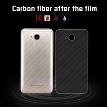 Filme de fibra carbono de volta macia para huawei honor 5c jogar NEM-TLOOH NEM-UL10 NEM-L22 capa protetor filme + limpeza roupas