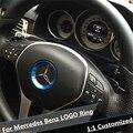 Красный Интерьер Аксессуары Руль Логотип Крышка Отделка Кольцо для Mercedes Benz Новый B/C/E Класс Класс C200L GLC GLK Новому CLA GLA