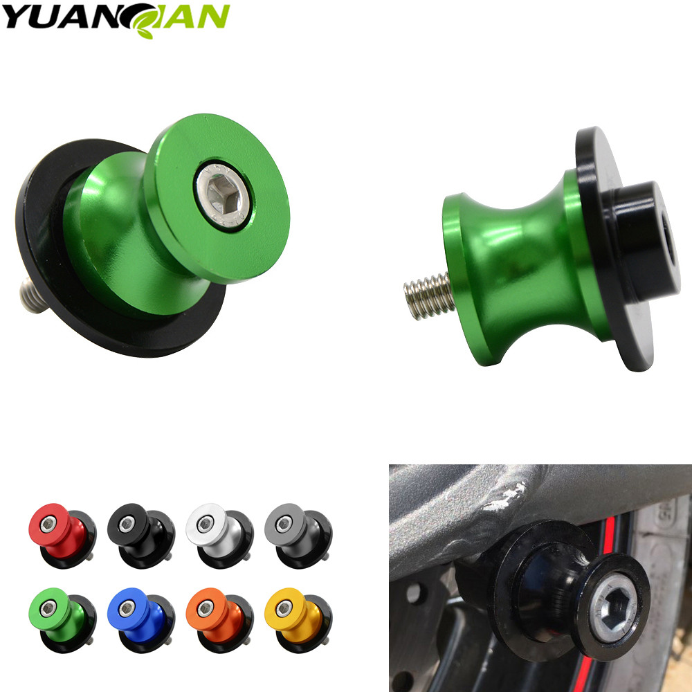 for kawasaki Z900 Z 900 2017 swing arm <font><b>Sliders</b></font> Motorcycle CNC Swingarm Spools stand screws <font><b>Slider</b></font> <font><b>para</b></font> <font><b>moto</b></font> motocicleta FOR Z900 image
