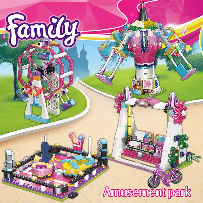 Bricks Compatibel Legoingly Vrienden Pretpark Blokken Achtbaan Figuur Model Speelgoed Hobbie Kinderen Meisjes