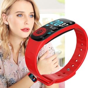 Image 5 - LIGE Bracelet intelligent femmes IP67 étanche Fitness Tracker 1.14 grand écran tension artérielle moniteur de fréquence cardiaque pour Android ios