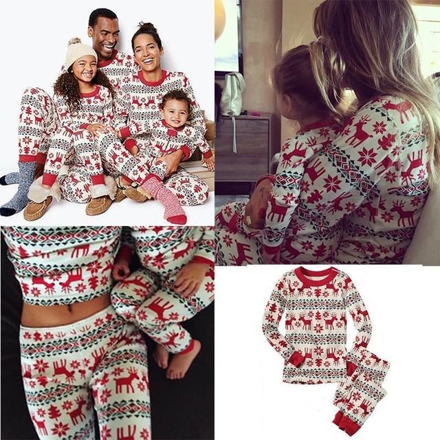 Julefamilie matchende bomuldstøj sæt 2019