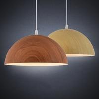 Indoor LED Loft Lamp Vintage Pendant Light Imitation Wood Nordic Natural Minimalist Modern Creative Kitchen Dinner Room Decor