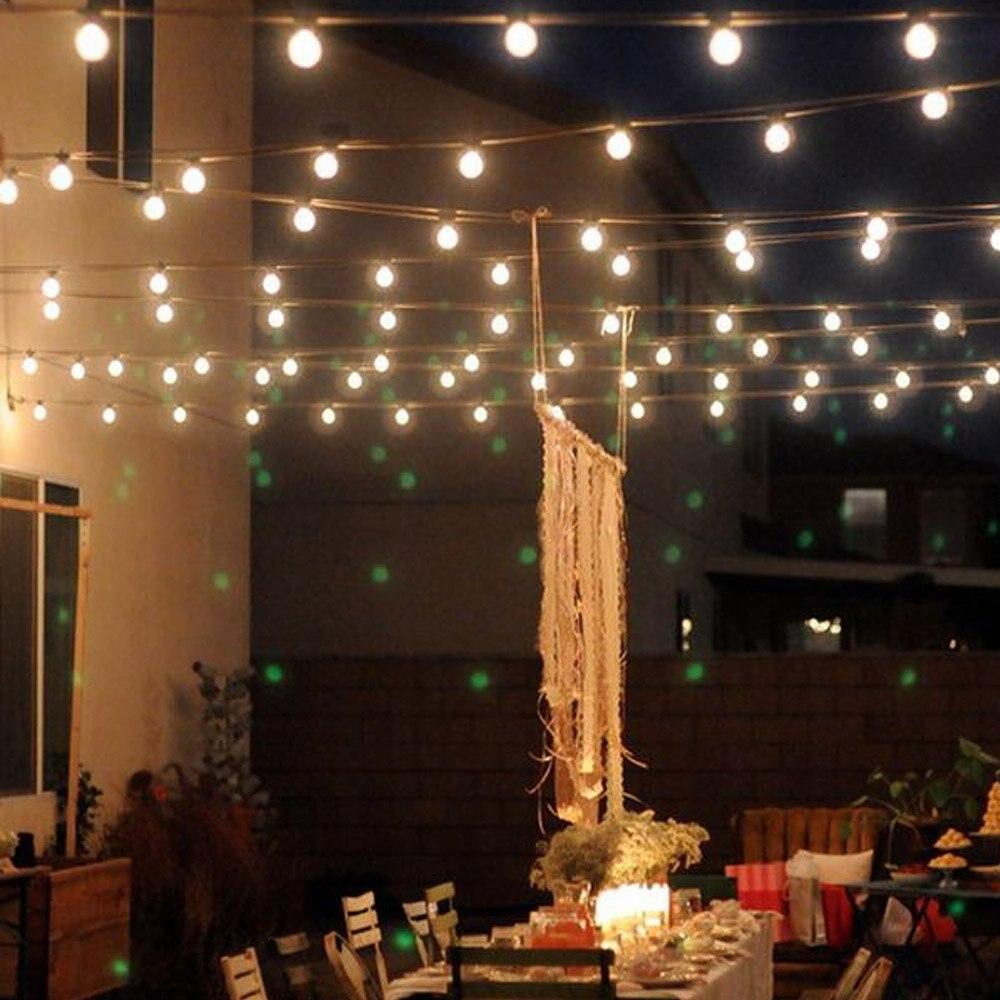 10M 50 bombillas Led de energía Solar luces de cadena Led para iluminación al aire libre patio calle Jardín guirnaldas de luces Led guirnalda de Navidad