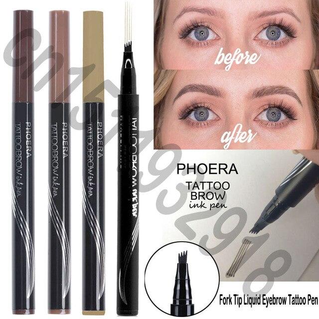 Waterproof Fork Tip Eyebrow Tattoo Tint Pen Fine Sketch Liquid Eyebrow Enhancer Pencil Microblading Eyebrow Pen Korean Cosmetics