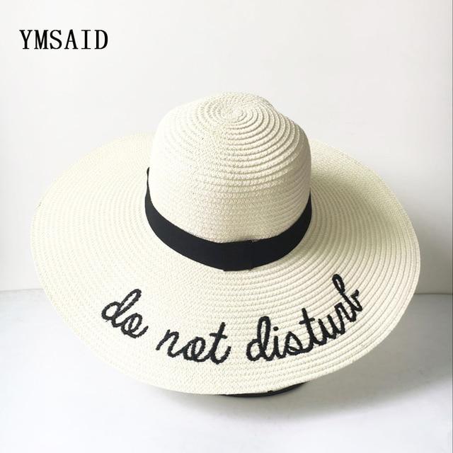 5574bd7a5b027 2018 Mulheres de Verão Chapéu de Sol Senhoras Aba Larga Chapéus De Palha  Dobrável Praia Chapéu