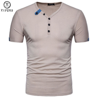 Solid Color T Shirt Men New Summer Slim Fit Short Sleeve Mens T Shirts Classic Casual