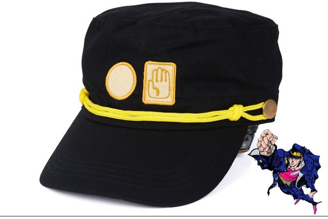 Hot 2016 nova chapéu cartoon anime Kujo Jotaro cosplay chapéu de alta qualidade novo anime chapéu HT105