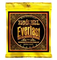 Ernie Ball 2560 Ever Last 80 20 Bronze Extra Light Acoustic Guitar Strings 010 050