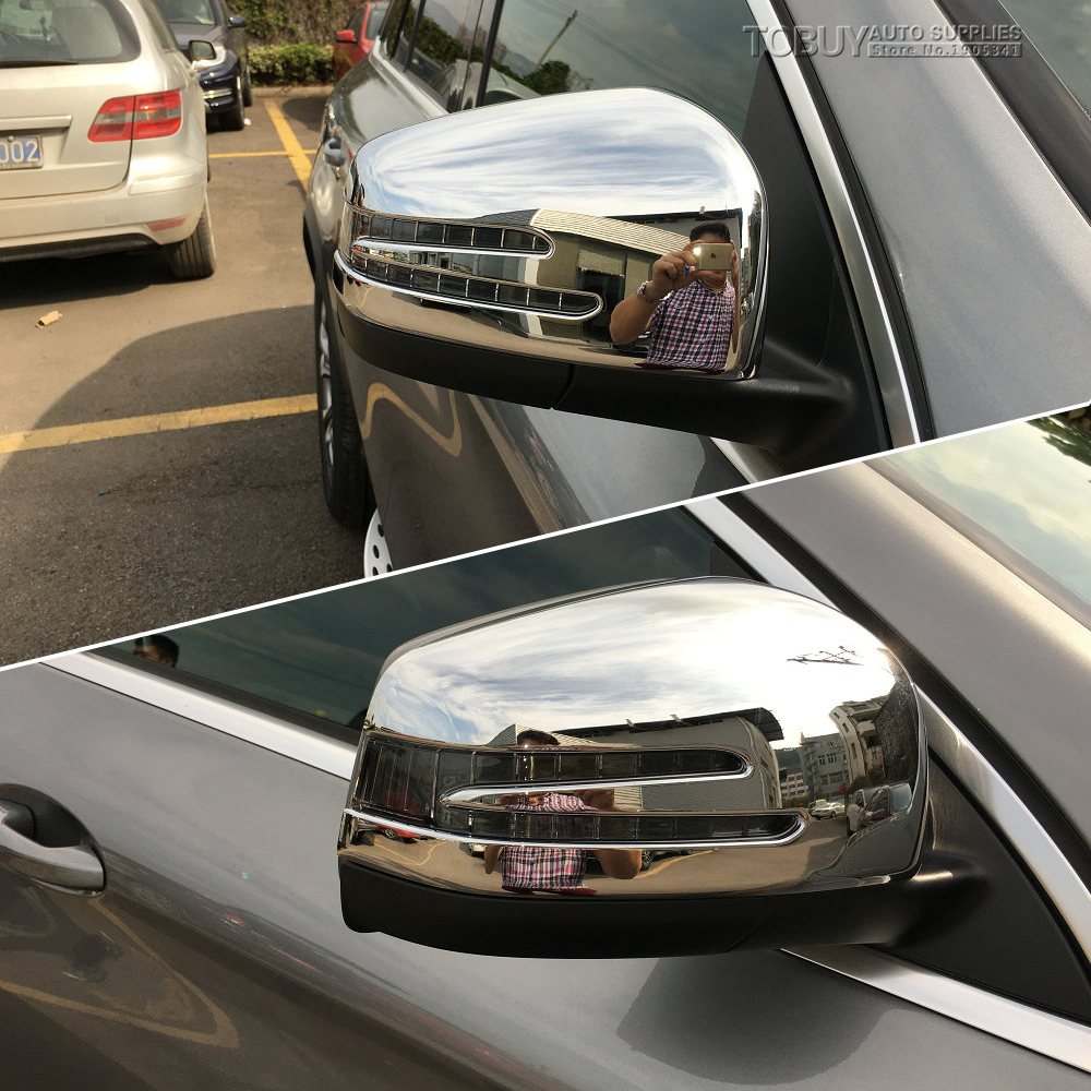 DEE 2pcs!ABS Chrome Rearview Mirror Cover Trim For Mercedes-Benz GLE W166 GLE Coupe C292 250 300 320 400 450 500 2015 2016 2017 nitro triple chrome plated abs mirror 4 door handle cover combo