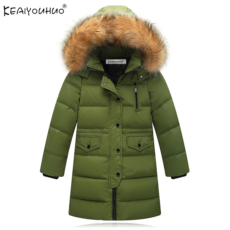 KEAIYOUHUO Winter Coats Cotton Girls Jackets Clothes Hooded Long Sleeve Boys Coat For Kids Outerwear Thick Children Down Jackets cartoon boys girls winter down coat kids long sleeve hooded jackets children thick warm outwear clothes parkas for girls yb234