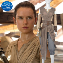 Womens Star Wars Rey Cosplay Costume Outfit Halloween