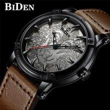 BIDEN Top Brand Luxury Men Watch Military Sport Man Clock Genuine Leather Wolf Quartz Wristwatch For Male relogio masculino #b все цены