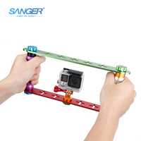 New Arrival Gopro Accessories CNC Color Series Both Hands Holding Diving Dedicated Selfie Stick For GOPRO