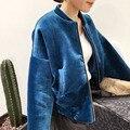 2016 New Fashion Winter Basic Padded Flight Bomber Jacket Women Warm Velvet Solid Color Short Long Sleeves Coat