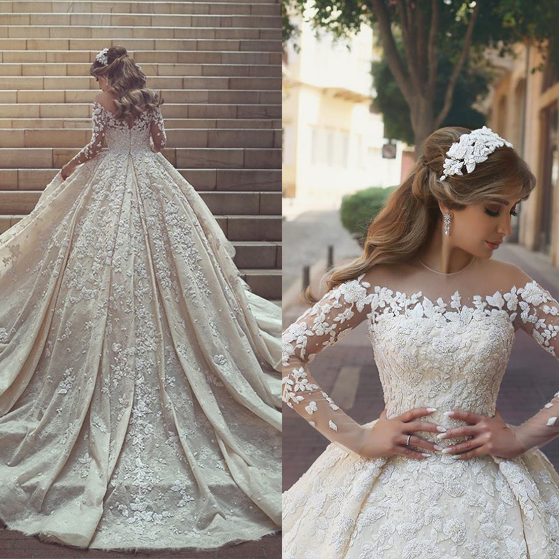 Robe de mariée avec traîne | Magnifique robe