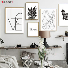 Nordic Style Inspiring Quotes Canvas Art Painting Black and White Wall Art Picture For Kids Room Living Room Home Decor No Frame цена