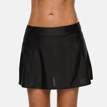 Attratico женские бикини однотонные плавки встроенная юбка для