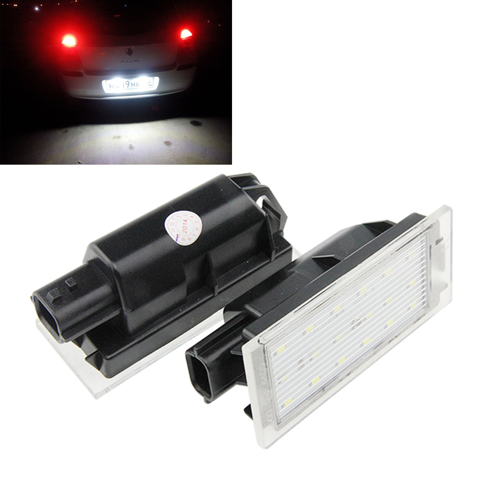 Auto LED license plate light for RENAULT Twingo Clio Megane Languna Velsatis Master Velsatis canbus 12V led tail license lamp бампер передний на renault clio 2001