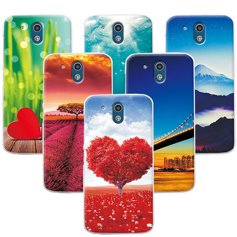 FOR HTC Desire 526 Case Soft TPU Back Cover FOR HTC 526 526G 526G 326 326G Funda Capa Scenery Rose Phone Cases FOR HTC 526 4.7""