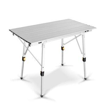 금속 알루미늄 야외 세트 휴대용 접는 피크닉 테이블 알루미늄 합금 리프팅 가정용 테이블