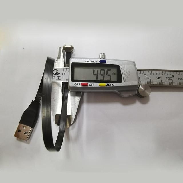25cm plana FPV ultra delgada súper suave de bajo perfil en ángulo recto Micro USB de 90 grados a usb 2,0 macho cinta FPC cable de carga de datos